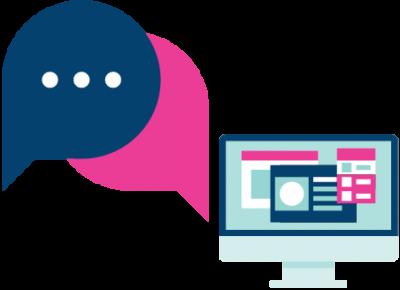 messaging and contact cartoon